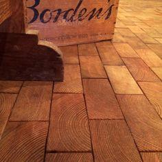 Poppytalk: End Grain Block Flooring at Cartolina