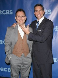 Michael Emerson (Finch) and Jim Caviezel (Reese)  stars of Person of Interest [the best show currently on tv!!!]