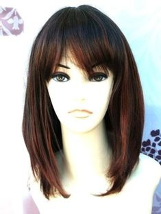 Forever Young Medium Mixed Brown Copper Number 2T33B130 Ladies Faceframe Page Style Fashion Wig by Forever Young
