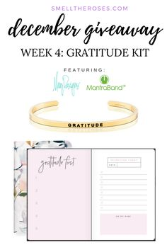 Enter to win this Gratitude Kit featuring May Designs and MantraBand at smelltheroses.com!
