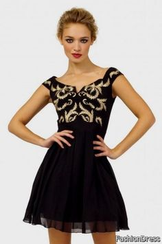 Cool black and gold party dresses 2017-2018