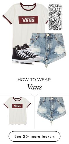 """Vans"" by melw44 on Polyvore featuring Vans, One Teaspoon and Converse"