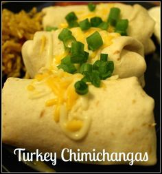 Baked Turkey and Jack Cheese Chimichangas