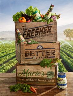 Marie's Salad Dressing by Taylor James, via Behance PD