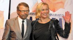 "Agnetha and Björn at the premiere of the musical ""Mamma Mia!"" in Copenhagen/Denmark 2010"