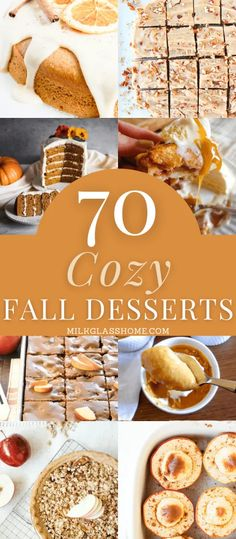 Find your next family favorite in this master list of 70 cozy fall desserts! These recipes are all made from scratch and feature classic flavors like pumpkin spice, apple cider, maple, spice, and more! #baking #pumpkinspice #applerecipes Apple Recipes, Fall Recipes, Baking Recipes, Dessert Recipes, Tea Recipes, Dessert Ideas, Desserts To Make, Fall Desserts, Delicious Desserts