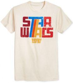 Fifth Sun Men's Star Wars 1977 Retro T-Shirt Tan/Beige - Star Wars Tshirt - Trending and Latest Star Wars Shirts - Hang Ten, Star Wars Outfits, Star Wars Clothes, Retro Shirts, Vintage T Shirts, 80s Tshirts, Estilo Retro, Star Wars Tshirt, Vintage Design