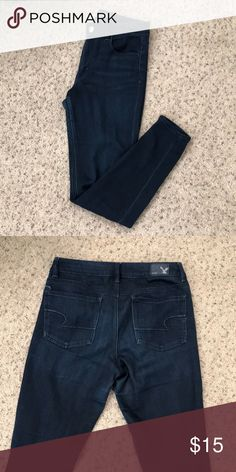 American Eagle high waisted jeggings, size 8 Worn but in great condition American Eagle Outfitters Jeans