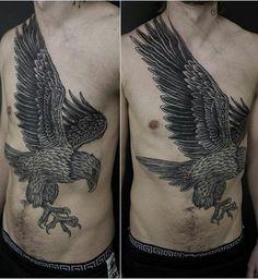 Eagle tattoo by Maxime Buchi (@ mxmttt) @ sangbleuzurich @ sangbleu_x @ tttism @ sangbleu #sangbleuLondon #sangbleuZurich #ContemporaryTattooing #tttism #tattoo #tattooing #sangbleu #tattoostudio #london #england #blackwork #blackandgrey #dotwork #sacredgeometry #pattern #mysticism #linework #maximebuchi #mxm #swisstypefaces