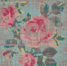 in her carpet collection for GAN, Charlotte Lancelot deconstructs traditional cross-stitch patterns and makes them into something new
