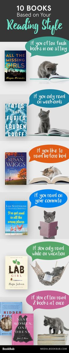 Looking for what book to read next? Check out these books to read based on your reading style!