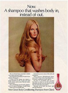 Shampoo ad - I remember this. I wanted her hair.