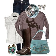 Horse Pullover, created by fantasy-closet on Polyvore