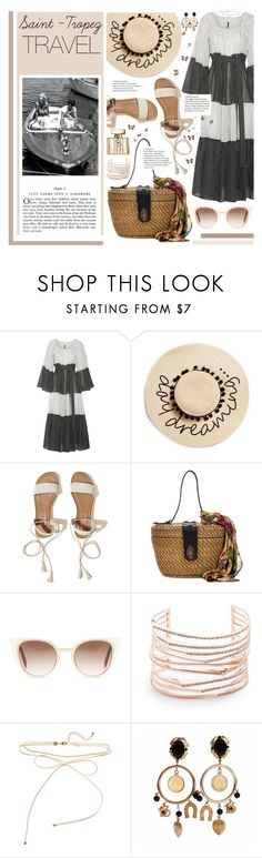 """""""Saint-Tropez Travel"""" by karolinapl ❤ liked on Polyvore featuring Lisa Marie Fernandez, August Hat, Hollister Co., Patricia Nash, Fendi, Alexis Bittar, Dolce&Gabbana and Gucci"""