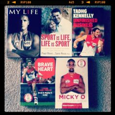 My collection of autobiographies by Sydney Swans legends :)
