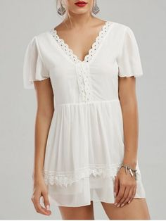 GET $50 NOW | Join RoseGal: Get YOUR $50 NOW!http://www.rosegal.com/casual-dresses/lace-insert-v-neck-backless-1161419.html?seid=5939510rg1161419