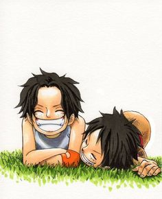 Ace and Luffy - One Piece