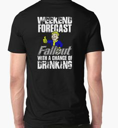 Fallout Vault Boy funny quote t-shirt cartoon fallout gaming inspired shirt in Gry, Gry, Komputerowe PC   eBay