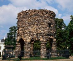 Newport Tower, Newport, RI Speculation has swirled around this stone structure in Newport's Touro Park for centuries. Was it an observatory? A windmill? Haunted Hotel, Photo Proof, Concrete Building, Art And Craft Design, Mysterious Places, Stonehenge, What A Wonderful World, Stone Art, Rhode Island