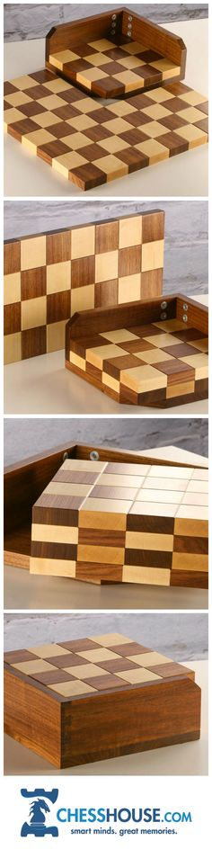 New images of the STACK handmade wooden chess board. Made right here in the USA in the Pennsylvania backcountry.