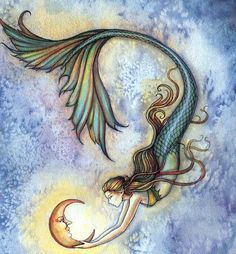 Mermaid and the moon- Molly Harrison