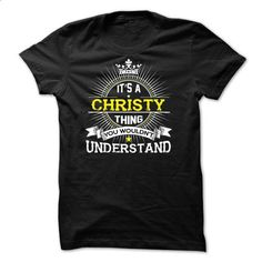 If your name is CHRISTY then this is just for you - #black tshirt #tshirt bemalen. CHECK PRICE => https://www.sunfrog.com/Names/If-your-name-is-CHRISTY-then-this-is-just-for-you-63610545-Guys.html?68278
