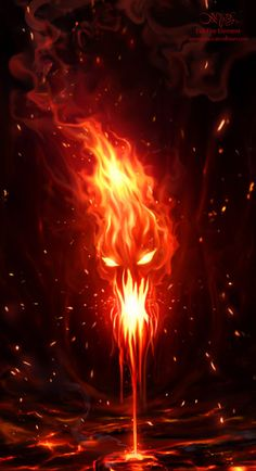 Evil Fire Element by amorphisss.deviantart.com on @deviantART