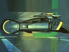 Concept art: Blade Runner by Syd Mead (1980)