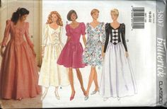 Butterick Sewing Pattern 3807 B3807 Misses Size 6-10 Formal Party Short Long Dress Evening Gown    Butterick+Sewing+Pattern+3807+B3807+Misses+Size+6-10+Formal+Party+Short+Long+Dress+Evening+Gown