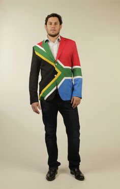 South Africa Flag Jacket. Check it out at www.nakalclothing.com