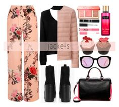 """Puffer Jackets"" by alaria ❤ liked on Polyvore featuring Boohoo, River Island, Uniqlo, Deux Lux, AQS by Aquaswiss, Too Faced Cosmetics, MAKE UP FOR EVER and puffers"
