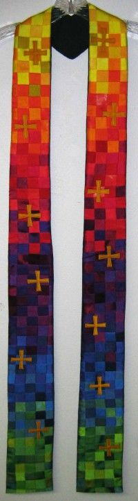 Rainbow Crosses Stole