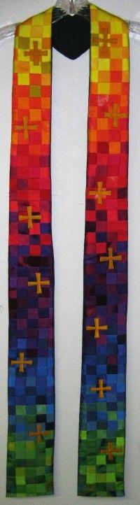 Rainbow Crosses Stole