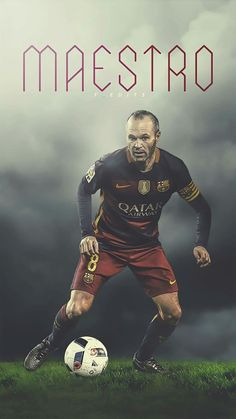 Brain and Master The ball Andrés Iniesta Barcelona E Real Madrid, Barcelona Team, Cr7 Messi, Cristiano Ronaldo Lionel Messi, Football Is Life, Best Football Team, Good Soccer Players, Football Players