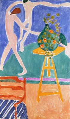 """Henri Matisse, Nasturtiums with the Painting """"Dance"""" I, 1912, Oil on canvas, 75 ½ x 45 3/8 in."""