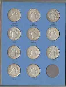 Complete-Franklin-35-Coin-Half-Dollar-Set-in-Whitman-Folder-1948-1963