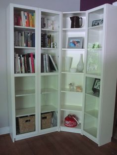 Ikea hack bookshelf desk good idea for mounting a desk for Ikea closed bookcases