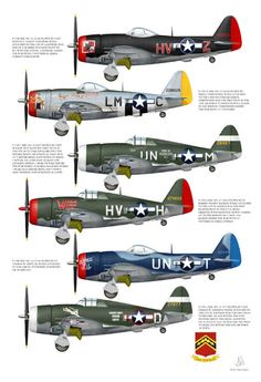 P-47's of the 56th Fighter Group II, by Stephen Mudgett at Ozark Airfield Artworks