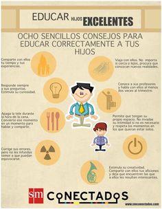 8 consejos para educar a tus hijos #infografia #infographic #education vía @smconecta2