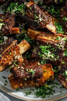 Garlic Braised Short Ribs with Red Wine
