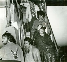 {*Elvis arriving at Palm Beach International Airport Feb.13 1977 6mnths before his death*}