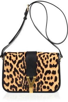 YVES SAINT LAURENT  Softy Chyc animal-print calf hair shoulder bag