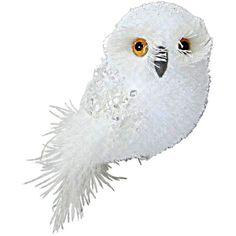 Christmas Ornament Set Metallic Owls Ct MultiColored 5