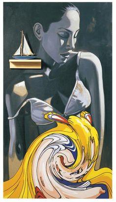 David Salle David Salle (born is an American painter who helped define postmode. What Is Contemporary Art, Modern Art, Oklahoma, Norman, Jeff Koons, Found Art, New York Art, Ap Art, American Art
