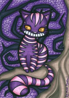 Cheshire cat ©Lewis Carol Art ©Miss Azalis