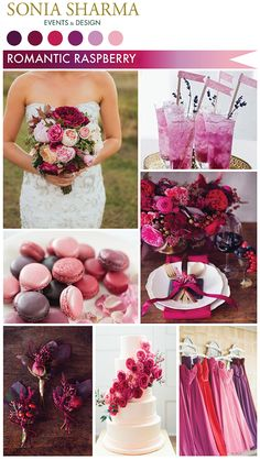 Pink and purple tones are the perfect way to set a romantic atmosphere for a wedding! Floral Wedding, Wedding Colors, Wedding Decorations, Table Decorations, Here Comes The Bride, Spring Wedding, Wedding Inspiration, Wedding Ideas, Raspberry