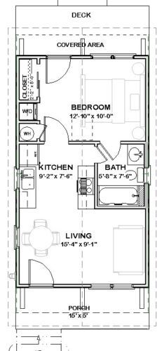 Shotgun House Floor Plans, Cabin Floor Plans, Micro House Plans, Small House Plans, Cottage Style House Plans, Bedroom House Plans, Cottage House, Shipping Container House Plans, Farmhouse Flooring