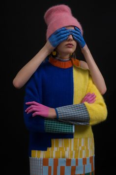 Alexander Calder influenced the bright colours and blocky shapes used by Chen Zhi in her graduate collection, which she hopes puts the fun back in fashion.