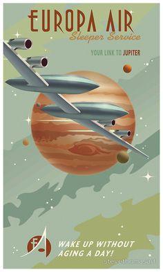 Old Poster, Poster Vintage, Vintage Travel Posters, Retro Posters, Poster Poster, Steve Thomas, Arte Sci Fi, Star Wars Prints, Vintage Art Prints