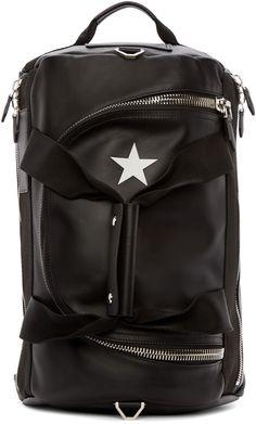 Givenchy Black Calfskin Star 17 Backsack